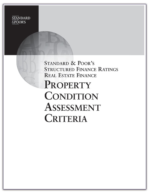 Standard & Poors Property Condition Assessment Critera thumb